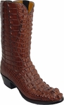 Mens Lucchese Classics Sport Rust American Alligator Top & Bottom Custom Hand-Made Boots L1002