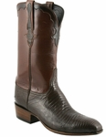 Mens Lucchese Classics Sport Rust Lizard with Kennedy Band Custom Hand-Made Leather Boots L9403