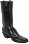 Mens Lucchese Classics Torero Black European Calf Leather Custom Hand-Made Boots L1521