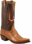 Mens Lucchese Classics Vintage Collection Tan Kangaroo Custom Hand-Made Cowboy Boots L1658