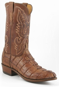 Mens Lucchese Heritage Barnwood Caiman Giant Tail Crocodile Cowboy Boots N1107