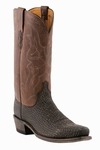 "Lucchese Men's ""Carl"" Chocolate Sanded Shark Boots M3105"