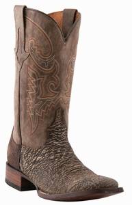 "Lucchese Men's ""Ryan"" Chocolate Sanded Shark Boots M4333"
