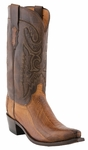 Mens Lucchese Since 1883 De Soto Tan Burnished Ostrich Leg Cowboy Boots M1618