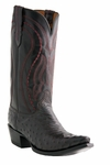 "Lucchese Men's ""Montana"" Grosseto Black Cherry Full Quill Ostrich Cowboy Boots M1609"