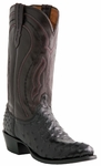 "Lucchese Men's ""Montana"" Grosseto Black Full Quill Ostrich Cowboy Boots M1608"