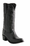 Mens Lucchese Since 1883 Milano Black Belly Crocodile Cowboy Boots M1636