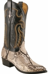 Mens Lucchese Since 1883 Natural Belly Cut Python Cowboy Boots M3039