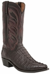Mens Lucchese Since 1883 Hornback Caiman Tail Barrel Brown Boot - Landon M2689