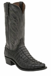 Mens Lucchese Since 1883 Hornback Caiman Tail Black Boot - Landon M2687