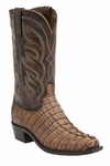 "Lucchese Men's ""Landon"" Tan Hornback Caiman Tail Boot M2691/M2688"