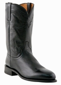 Store Special 11.5 Lucchese Since 1883 Mens Roper Black Leather Cowboy Boots M1010