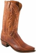 Store Special Size 11.5 Lucchese 1883 Mens Brandy Matte Ostrich Leg* Cowboy Boots N1121