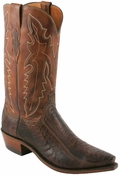 "Store Special Size 11.5 Lucchese 1883 Mens Chocolate Matte Ostrich Leg* Cowboy Boots N1119<Font color=""Red""> D</Font>"
