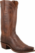 "Store Special Size 11.5 Mens Lucchese ""Bart"" Mens Tan Burnished Ranch Hand Cowboy Boots N1596<Font color=""Red""> D</Font>"
