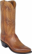"Store Special Size 11.5 Mens Lucchese ""Crayton"" Tan Burnished Mad Dog Goat Leather Boots N1547<Font color=""Red""> D&EE</Font>"