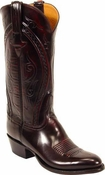 "Store Special Size 12 Lucchese Classics Black Cherry Hobby III Goat Custom Hand-Made Cowboy Boots L1509 <Font color=""Red""> D</Font>"