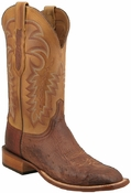 Store Special Size 11.5 Lucchese Cowboy Collection Mens Barnwood Burnished Smooth Ostrich Leather Boots CY1304 - C1304
