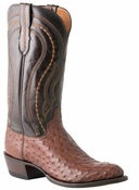Store Special Size 11.5 Lucchese Since 1883 Grosseto Sienna Full Quill Ostrich Cowboy Boots M1607