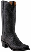 Store Special Size 11.5 Lucchese Since 1883 Mens Black Hornback Caiman Tail Cowboy Boots N1127