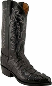 "Store Special Size 11.5 Mens Lucchese Classics Black Caiman Crocodile Tail Custom Hand-Made Cowboy Boots L1325<Font color=""Red""> D</Font>"