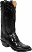 "Store Special Size 11.5 Mens Lucchese Classics Black Seville Goat Custom Hand-Made Cowboy Boots L1508<Font color=""Red""> EE</Font>"