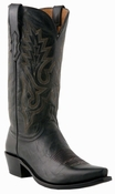"""Store Specials Size 11.5 Mens Lucchese """"Lewis"""" Black Madras Goat Boots M1007<Font color=""""Red""""> D</Font>"""
