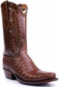 "Store Special Size 11.5 Mens Lucchese Classics Special Edition Cigar Caiman Crocodile Belly Custom Hand-Made Cowboy Boots E2115<Font color=""Red""> D</Font>"