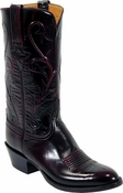 Store Special Size 11.5 Mens Lucchese Classics Roma Cord Black Cherry Goat Leather Custom Hand-Made Boots L1514