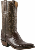 """Store Special Size 11.5 Mens Lucchese Classics Sienna Ultra Caiman Belly Hand-Made Cowboy Boots E2144<Font color=""""Red""""> D</Font>"""