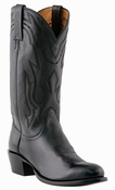 Store Special Size 11.5 Mens Lucchese Since 1883 Black Lonestar Calf Cowboy M1020