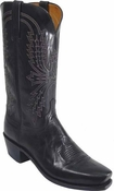 "Store Special Size 11.5 Mens Lucchese Since 1883 Black Mad Dog Goat Cowboy Boots N1560<Font color=""Red""> D&EE</Font>"