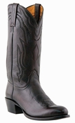 "Store Special Size 11.5 Mens Lucchese Since 1883 Western with ""New Leaf"" Stitch Design Black Cherry Lonestar Calf Cowboy M1021<Font color=""Red""> D</Font>"