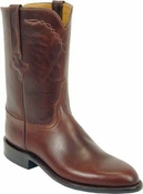 "Store Special Size 11.5 Mens Lucchese Classics Chocolate Oil Calf Custom Hand-Made Roper Boots L3512<Font color=""Red""> EE</Font>"