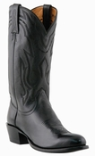 "Store Special Size 11.5 Mens Lucchese Since 1883 Black Lonestar Calf Cowboy M1020<Font color=""Red""> D</Font>"