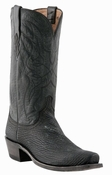 """Store Special Size 11.5 Mens Lucchese Since 1883 Black Sanded Shark M3106<Font color=""""Red""""> D</Font>"""