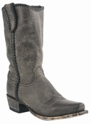 """Store Specials Size 11.5 Mens Lucchese Since 1883 Anthracite Distressed Mad Dog Goat Cowboy Boots M2600 <Font color=""""Red""""> D</Font>"""