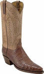 Womens Lucchese Classics Burnished Caiman Crocodile Custom Hand-Made Boots L4106