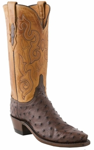 Womens Lucchese Since 1883 Sienna Pin Ostrich N4084
