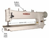 "Consew 206RBL-18 Long - Arm Heavy Duty Walking FootSingle Needle Drop Feed, Needle Feed Large Bobbin, ReverseIncluding ""KD Stand and Motor"