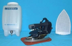 Consew CES 85AF Gravity Feed Steam Iron with Water Bottle amp; Non Stick Shoe