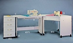 Fashion Sewing Cabinets of America Model 373 Modular Sewing/Embroidery Table.