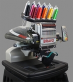 Melco Amaya Bravo Single Head 16 Needle Embroidery Machine - AceSewVac.com