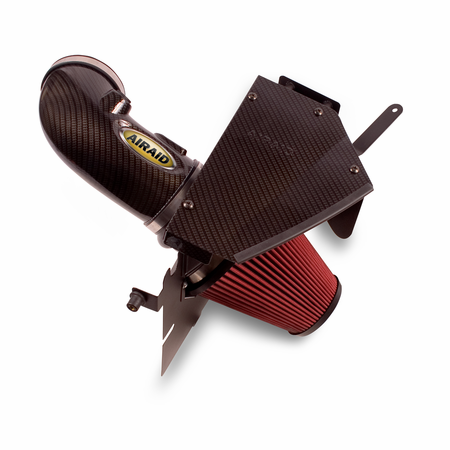 Airaid Air Intake System 09-14 Cadillac CTS-V, 11-14 Coupe 6.2L - CAD w/Carbon fiber hydro print treatment tube, dry, red media