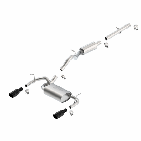 Borla Wrangler JK 2-door 2012-2014 Cat-Back Exhaust Touring part # 140460BC
