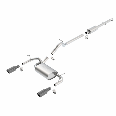 Borla Wrangler JK 4-door 2012-2014 Cat-Back Exhaust Touring part # 140459BC
