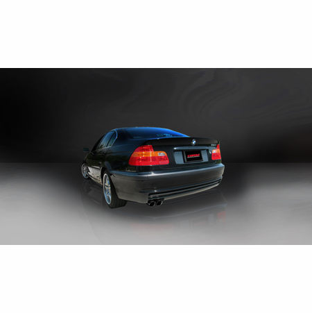 "CORSA 2.25"" Single Rear Cat-Back Exhaust 1999-2006 BMW 328i/is E46 Coupe"