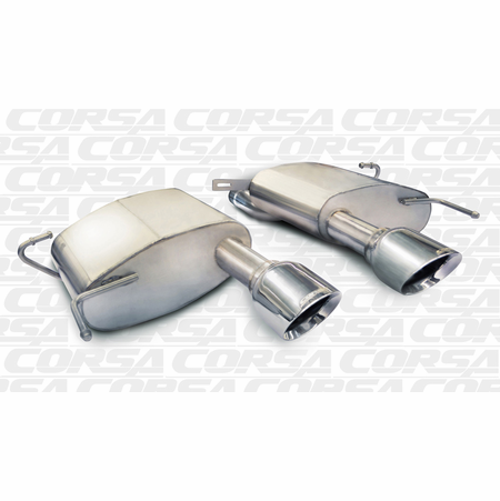 "CORSA 2.5"" Dual Center Rear Axle-Back Exhaust 2011-2014 Cadillac CTS V Coupe 6.2L V8"