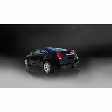 """CORSA 2.5"""" Dual Center Rear Axle-Back Exhaust 2011-2014 Cadillac CTS V Coupe 6.2L V8"""