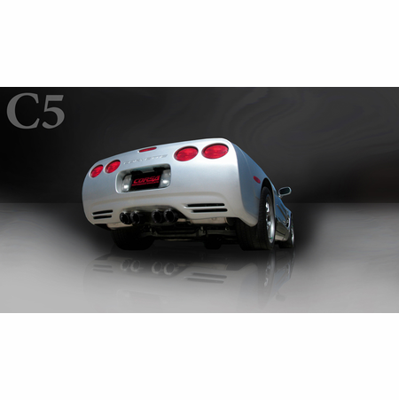"CORSA 2.5"" Dual Rear Axle-Back Exhaust 1997-2004 Chevrolet Corvette C5 Z06 5.7L V8"